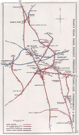 Lancashire Union Railway - Lines around Wigan in 1907
