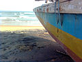 Boat side view of sea at RK Beach 01.jpg