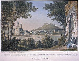 Klopp Castle - Image: Bodmer Bingen Burg Klopp