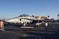 Boeing FA-18F Super Hornet Tigerstripe LSideFront MacDill AirFest 5Oct2011 (14699671495).jpg