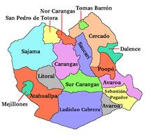 Dipartimento di Oruro-Suddivisione amministrativa-Bolivia department of Oruro