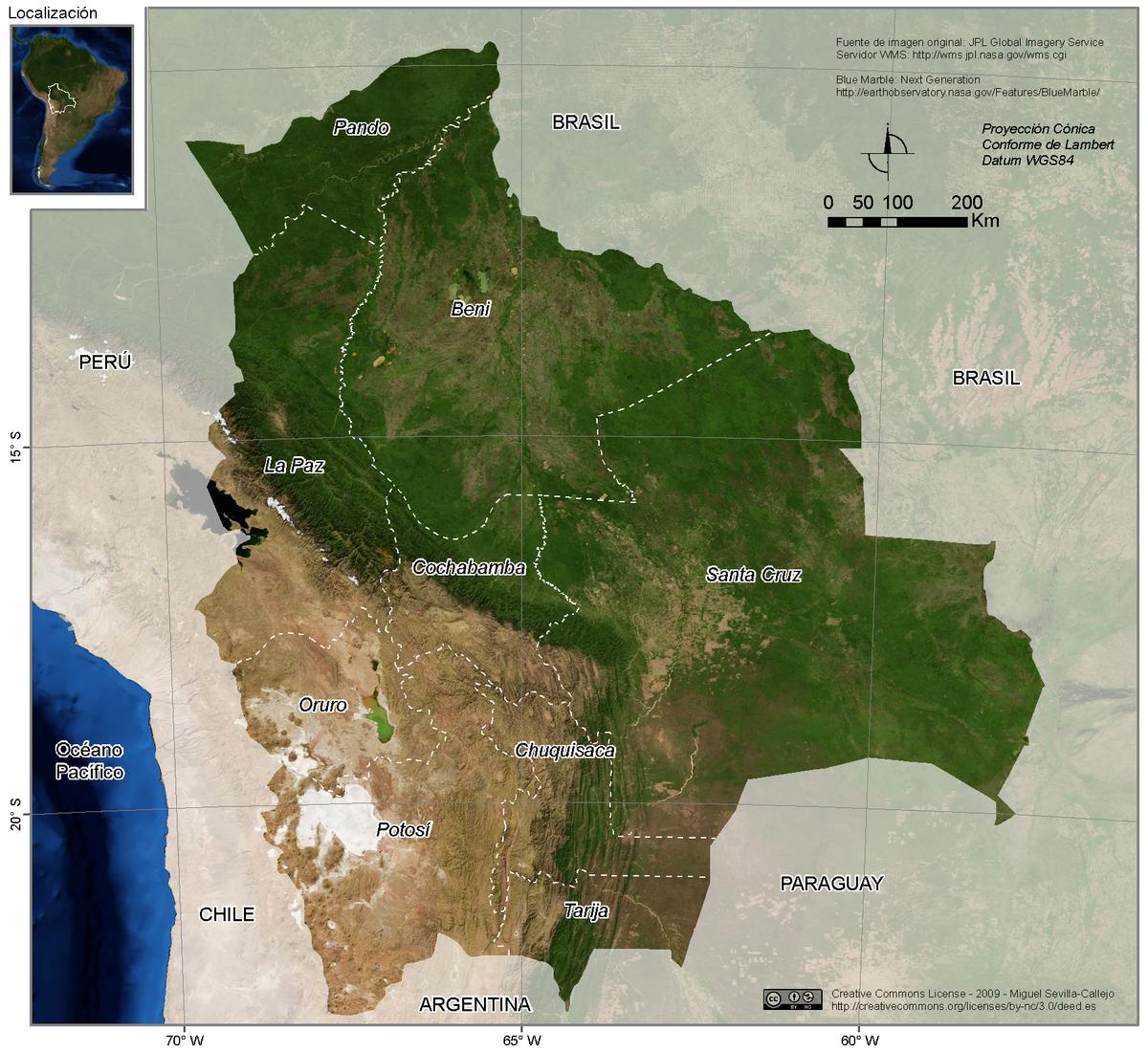 Geografía de Bolivia - Wikipedia, la enciclopedia libre