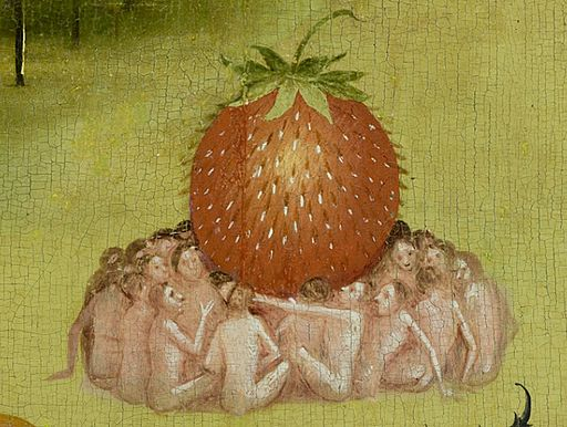 Bosch, Hieronymus - The Garden of Earthly Delights, central panel - Detail Strawberry