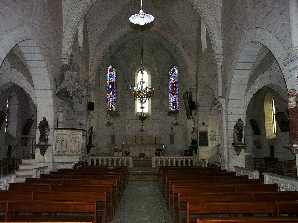 Boulazac France  City pictures : ... et chœur de l'église Saint Jean Baptiste, Boulazac, Dordogne, France