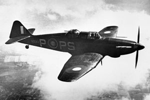 Boulton Paul Defiant - Defiant Mark I N3313 of No. 264 Squadron, 1940