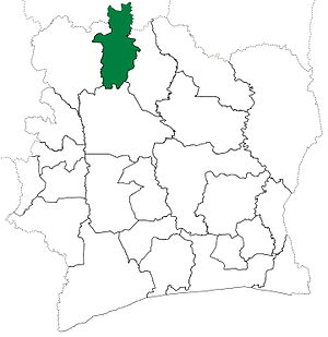 Boundiali Department - Boundiali Department upon its creation in 1969. Boundiali Department kept these boundaries until 1980, but other departments began to be divided in 1974.