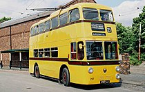 Sunbeam MF2B trolleybus uit 1962