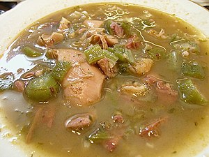 Signature gumbo from Bozo's Seafood Restaurant...