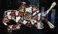 Brasile, guyana o amapa, wapyana, tappetini per il rituale di pubertà marakè con formiche che pungono, spirito delle acque molokot, XX secolo.jpg