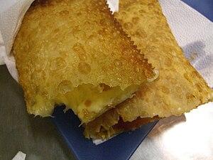 Pastel (food) - Image: Brazilian pastel