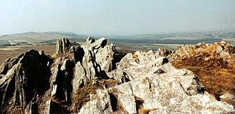 Monts d'Arrée - Image: Bretagne Finistere Roc Trevezel 1991 002