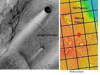 Syrtis Major Planum - Image: Bright Streaks in Syrtis Major