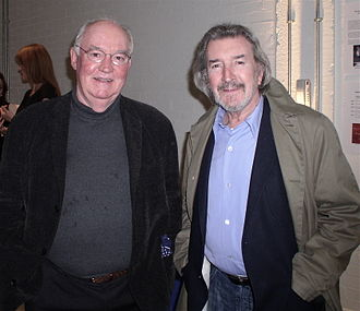 David Calder (actor) - Calder, left, is seen with fellow actor Gawn Grainger at the National Theatre Studio on 3 November 2009