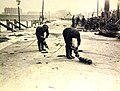 British sailors preparing nets and mines to strafe U boats, WWI (21331856820).jpg
