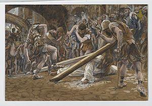 Jesus Falls Beneath the Cross