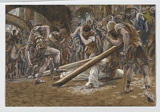 Jésus tombe sous la Croix