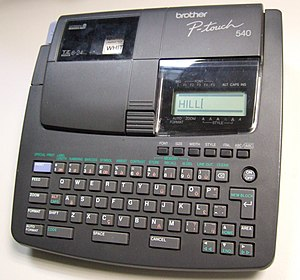 Brother Industries - Brother P-Touch 540 label printer