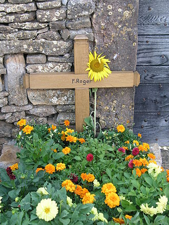 Brother Roger - Brother Roger's grave in Taizé