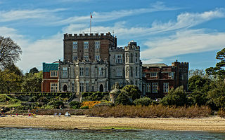 Brownsea Castle grade II listed Device Fort in Purbeck, United kingdom