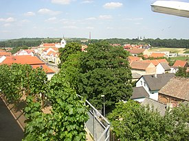 Brozany nad Ohri CZ view from castle over town centre towards ENE 187.jpg