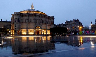 McEwan Hall - Bristo Square and McEwan Hall December 2017