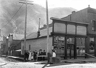 Telluride, Colorado - Brunswick Saloon, Telluride, circa 1900