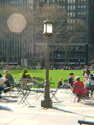 A photo of Bryant Park, Manhattan NY.