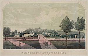 Bucknell University - Bucknell University in the 1870s