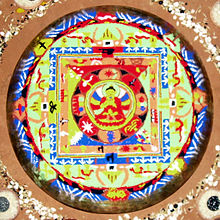 Sandpainting Showing Buddha Mandala Which Is Made As Part Of The Death Rituals Among Buddhist Newars Nepal
