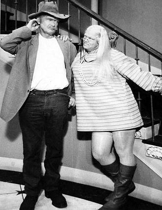 """Roy Clark - Clark as """"Myrtle Halsey"""" on The Beverly Hillbillies, 1968."""