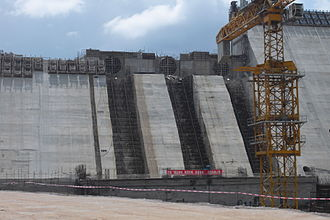 Bui Dam - Dam under construction in 2011