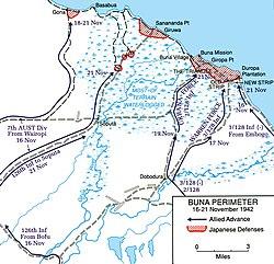 Buna-Gona map