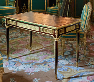 Writing table - Writing table of Marie-Antoinette by Riesener (1783), Petit appartement de la reine, Palace of Versailles.