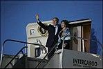 Bush after landing in Mar del Plata.jpg