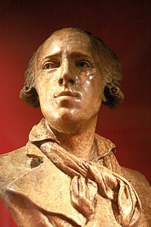 Bust of Claude Joseph Rouget de Lisle, by David d'Angers (1788-1856). Wax. On display at Strasbourg Historical Museum, accession number 88.2007.0.4.