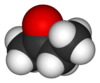 Space-filling model of butanone