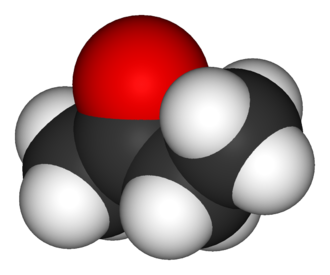 Butanone - Image: Butanone 3D vd W
