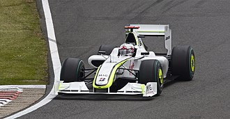 2009 British Grand Prix - Jenson Button struggled with tyre temperatures throughout the race.