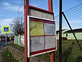 Byškovice, Pražská, zastávka autobusu, jízdní řády PID.jpg