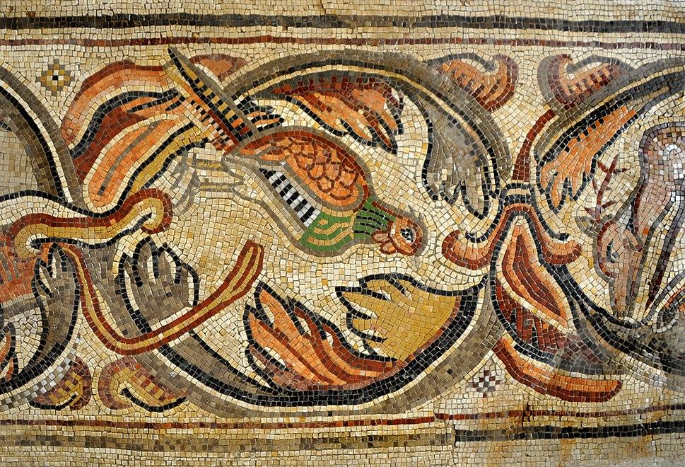 Byzantine church in Nahariya - Phasianus Mosaic