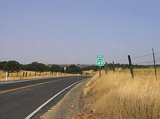 California State Route 49 - SR 49 in Tuolumne County
