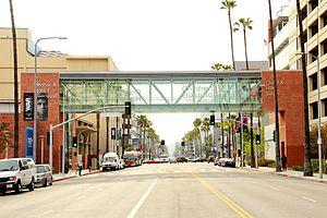 Children's Hospital Los Angeles - Sunset Bridge crossing Route 66