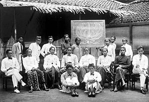 Ki Hajar Dewantara - Teachers at the Taman Siswa school in Jogjakarta.