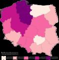 COVID-19 outbreak Poland per capita cases map.png
