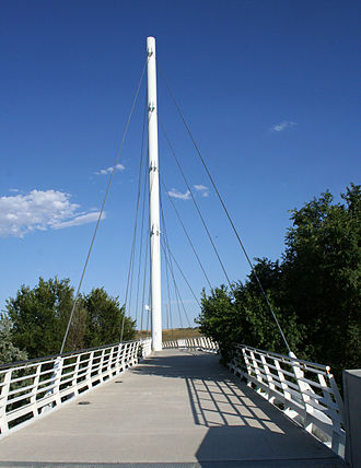 Arvada, Colorado - Cable-stayed bridge at Gold Strike Park