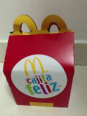 "Happy Meal - ""Cajita Feliz"" box"