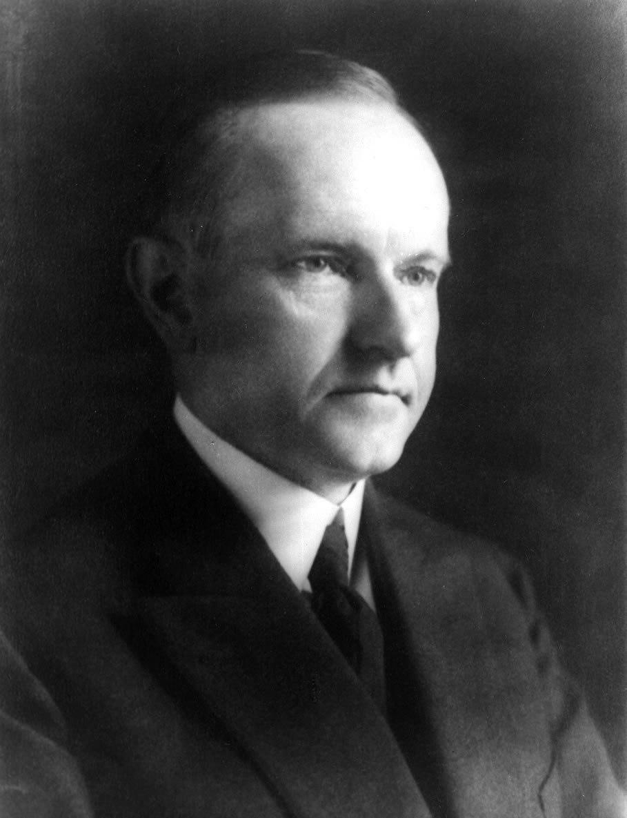 Calvin Coolidge photo portrait head and shoulders