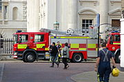 Fire engine at the Senate House, University of Cambridge