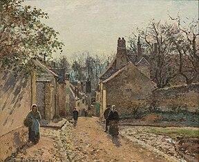 Une rue de village, Louveciennes