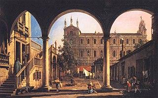 Capriccio of the Scuola di San Marco from the Loggia of the Palazzo Grifalconi-Loredan